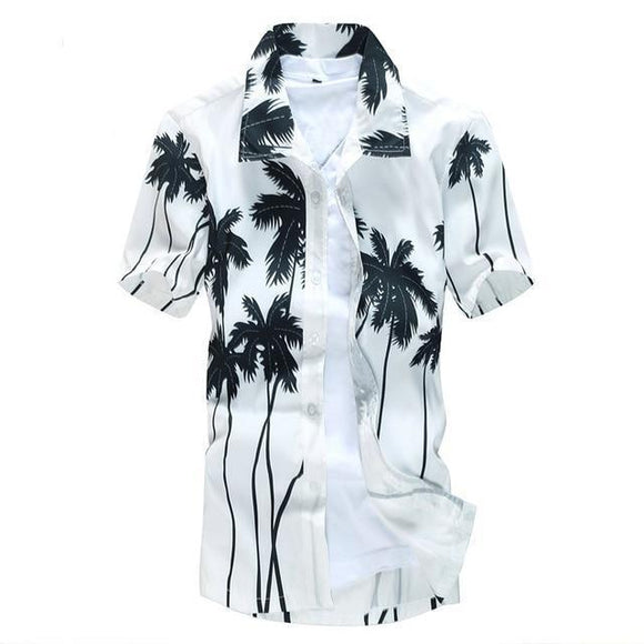 Hawaiian Shirt - Men's Hawaiian Short Sleeved Summer Shirt
