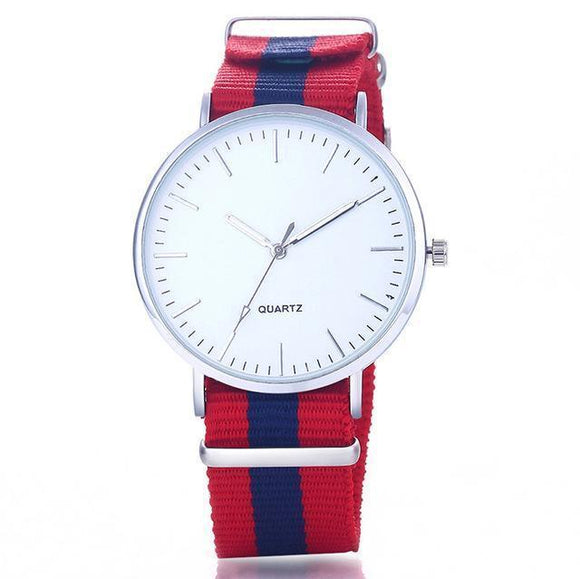 Wristwatch - Attractive Quartz Watch With Multi-color Strap