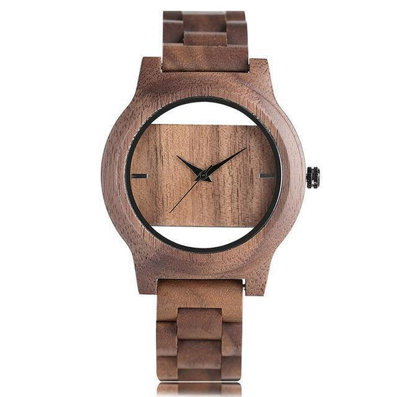 Wristwatch - Handmade Natural Wood Hollow Wristwatch