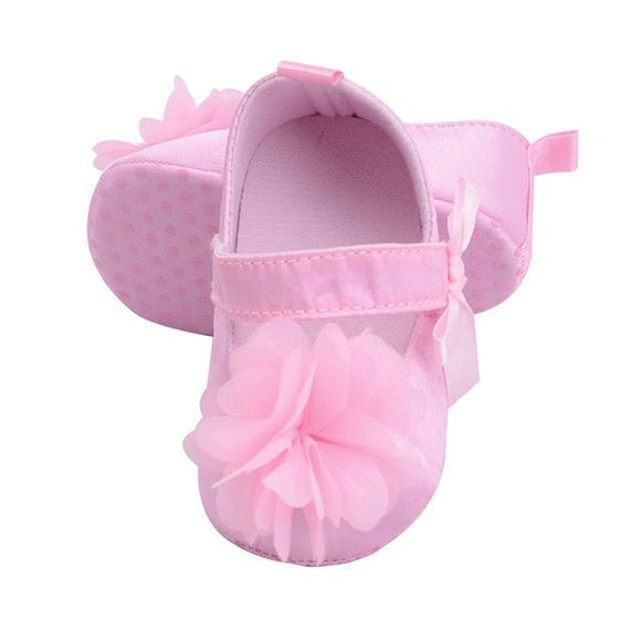 Baby Shoes - Infant Baby Shoes With Faux Petals