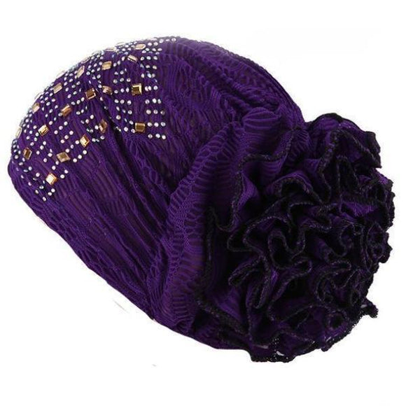 Turban - Candy Colored Lace Head Wrap And Turban
