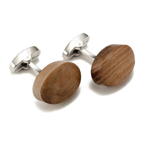 Cuff-links - Trendy Walnut Wood Square Cuff-links