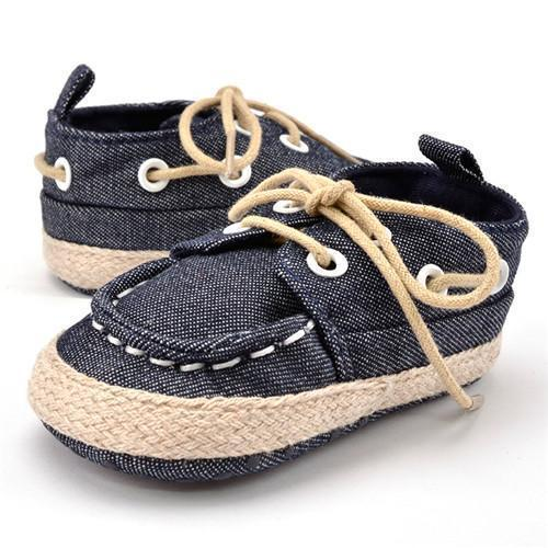 Baby Shoes - Canvas Lace-up Infant Sneakers