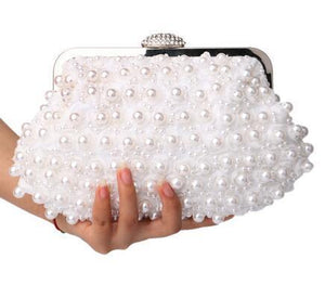 Purse - Beaded Pearl Evening Clutch