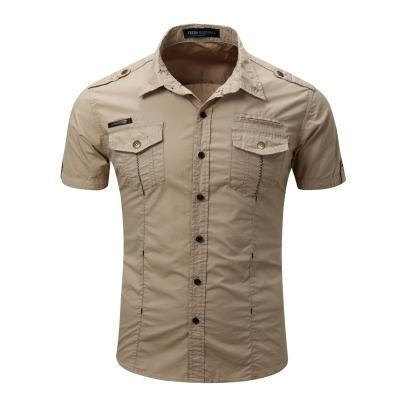 Men's Shirt - Men's Short Sleeve Cargo Shirt