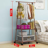 Clothes Rack - Multi-functional Triangle Simple Coat Rack With Wheels