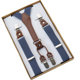 Men's Suspenders - Four (4) Clip Men's Suspenders