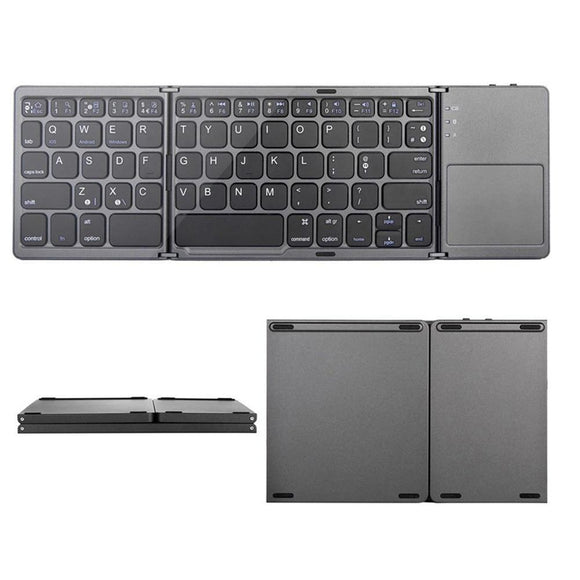 Wireless Keyboard - Portable Folding Bluetooth Touchpad Keyboard