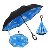Umbrella - Inverted Windproof Rain Reverse Double Layer Umbrella