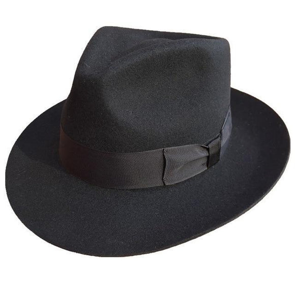 Fedora Hat - Classic Men's Godfather Wool Fedora Hat