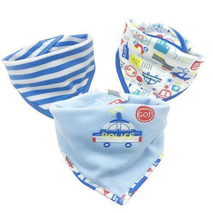 Burp Towel - Three (3) Piece Cotton Baby Bib And Burp Towels