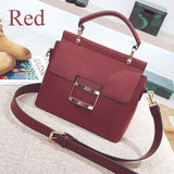 Handbag - Extra Large Buckle Flap Shoulder Bag
