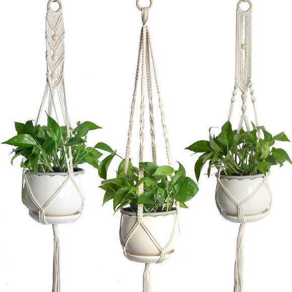 Outdoor Plant Hanging Basket - Garden Decoration - Outdoor Hanging Pot Rope