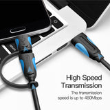 Assorted Vention Type-C Micro USB Cable 2-in-1 USB Data Sync USB C 5V 2.4A Fast Charger Cable