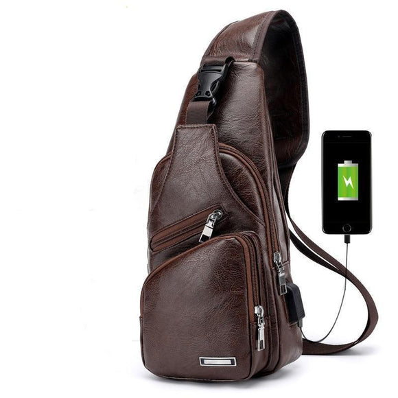 Messenger Bag - Smart Crossbody USB Charger Chest Bag