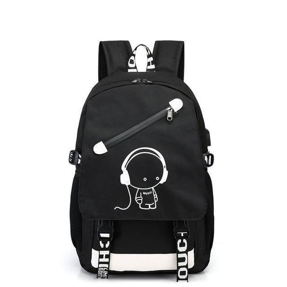Bag - Students Backpack With USB Charger