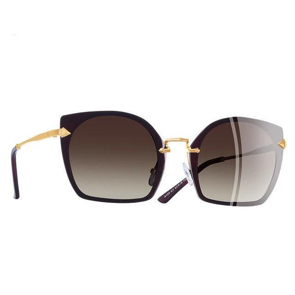 Sunglasses - Rimless Frame Polarized Sunglasses For Women