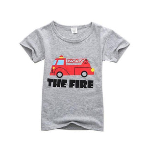 Toddler T-shirt - Short Sleeved Toddler Cotton T-shirt
