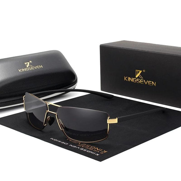 Sunglasses - KINGSEVEN Rectangular Frame Driving Sunglasses For Men