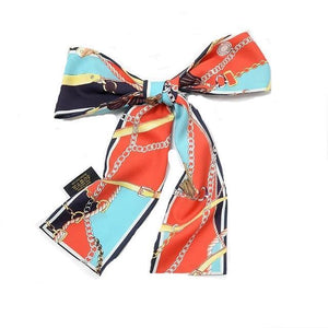 Scarf - Chic Clover Silk Designer Scarf For Women
