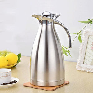 Coffee Pot - Two (2)Liter Double-Wall Vacuum Insulated Stainless Steel Coffee Pot