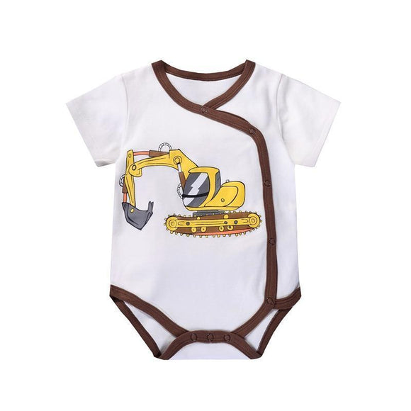 Baby Onesie - Short Sleeve Cotton Romper