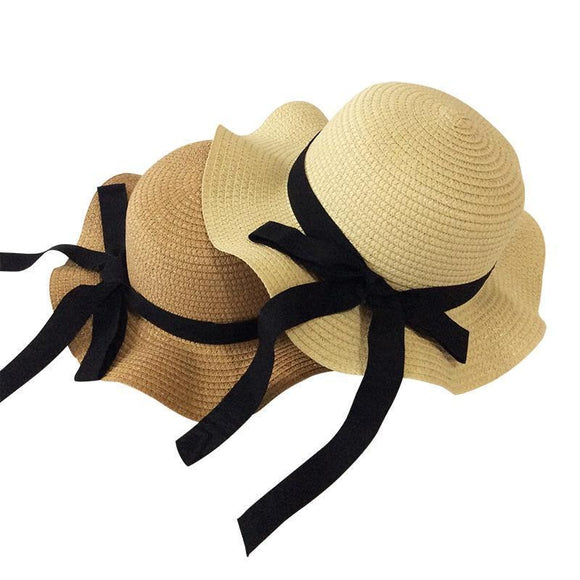 Baby Hats - Wavy Straw Hat For Girls