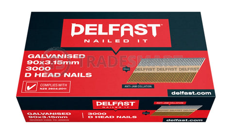 Delfast D-Head Gun Nails - Galvanised