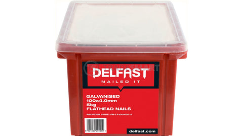 Delfast Flat Head Loose Nails - Galvanised