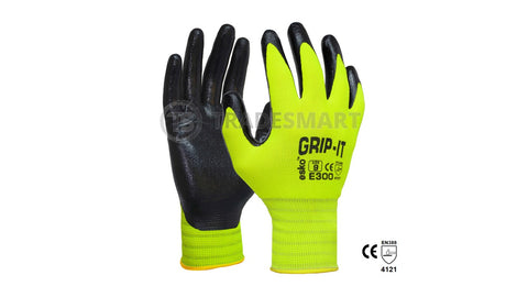 Safety Glove, Nitrile Palm - Hi Viz