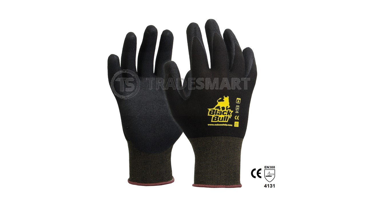 Pro Safety Glove, Sandy Nitrile Palm with Polyamide liner