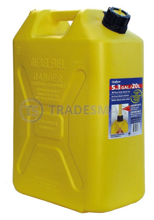 Fuel Can 20 Litre Yellow