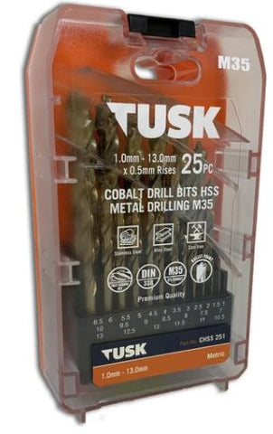Metal Drill Bit Kit 25 - Cobalt M35
