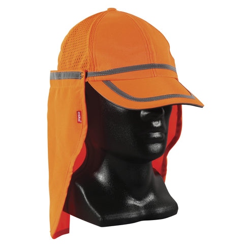 Hi-Vis Baseball Cap with Neck Shield