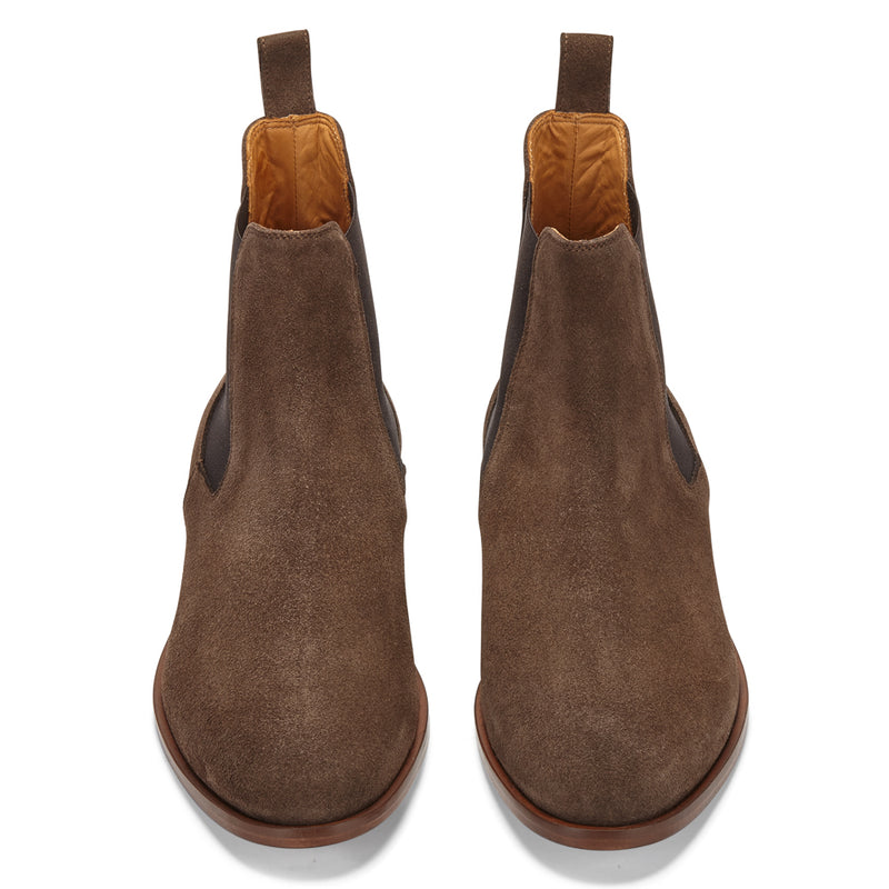 CHELSEA BOOT IN NUTELLA SUEDE