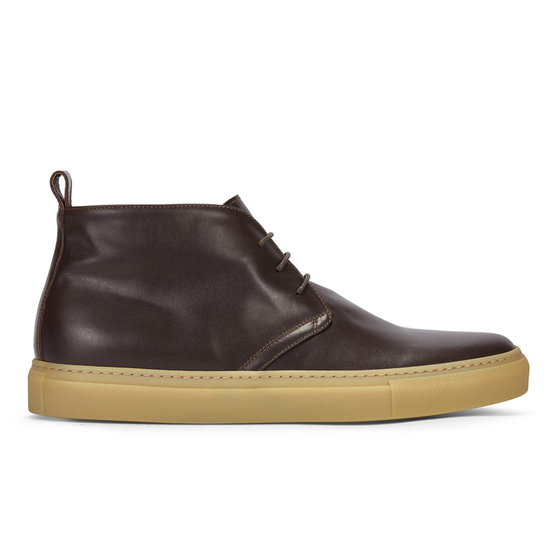 CHUKKA IN BROWN LEATHER