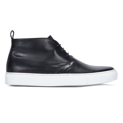CHUKKA IN BLACK LEATHER