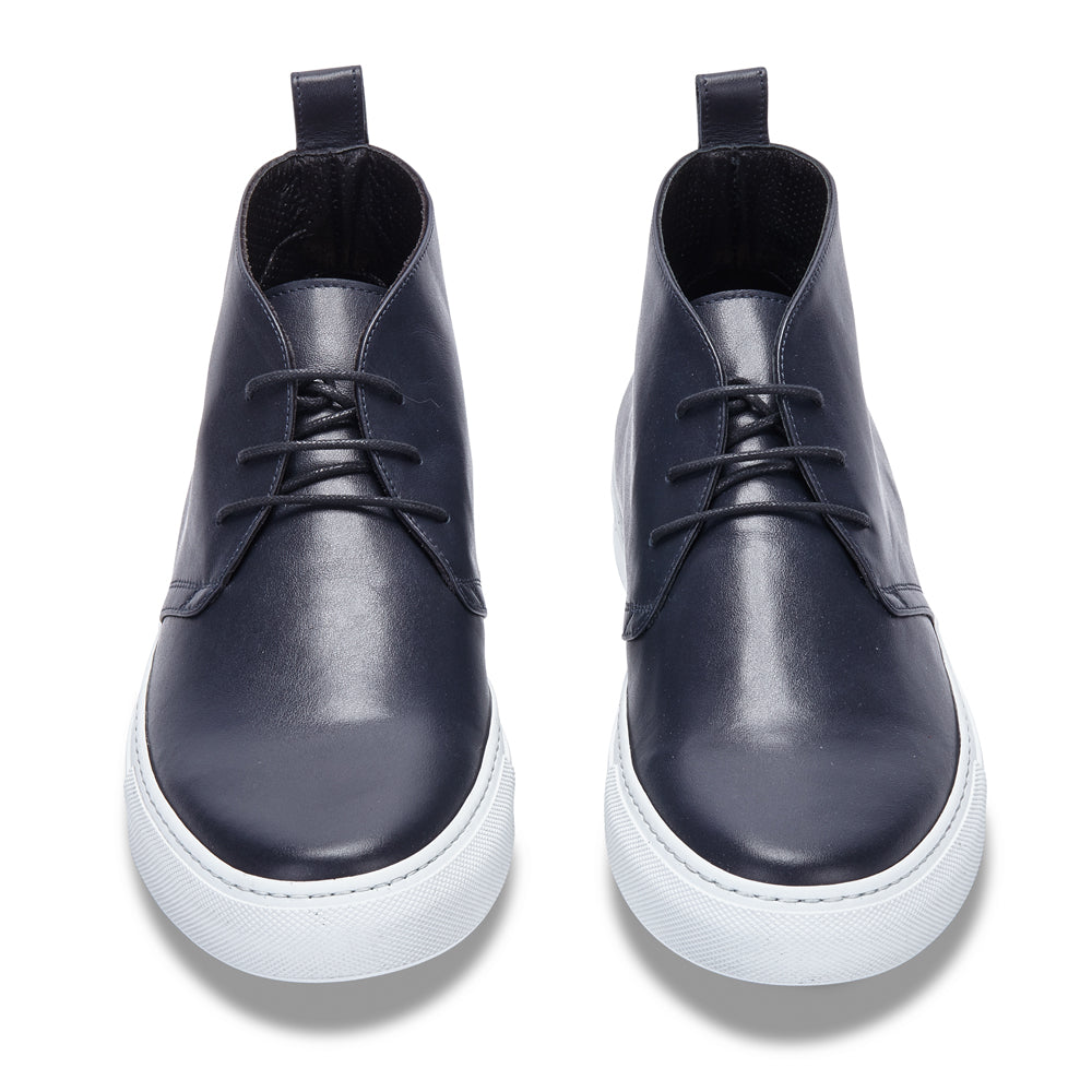 CHUKKA IN NAVY LEATHER