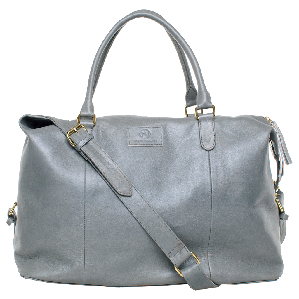 Sherri Weekender - Grey Leather