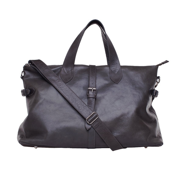 Mason Weekender - Black leather