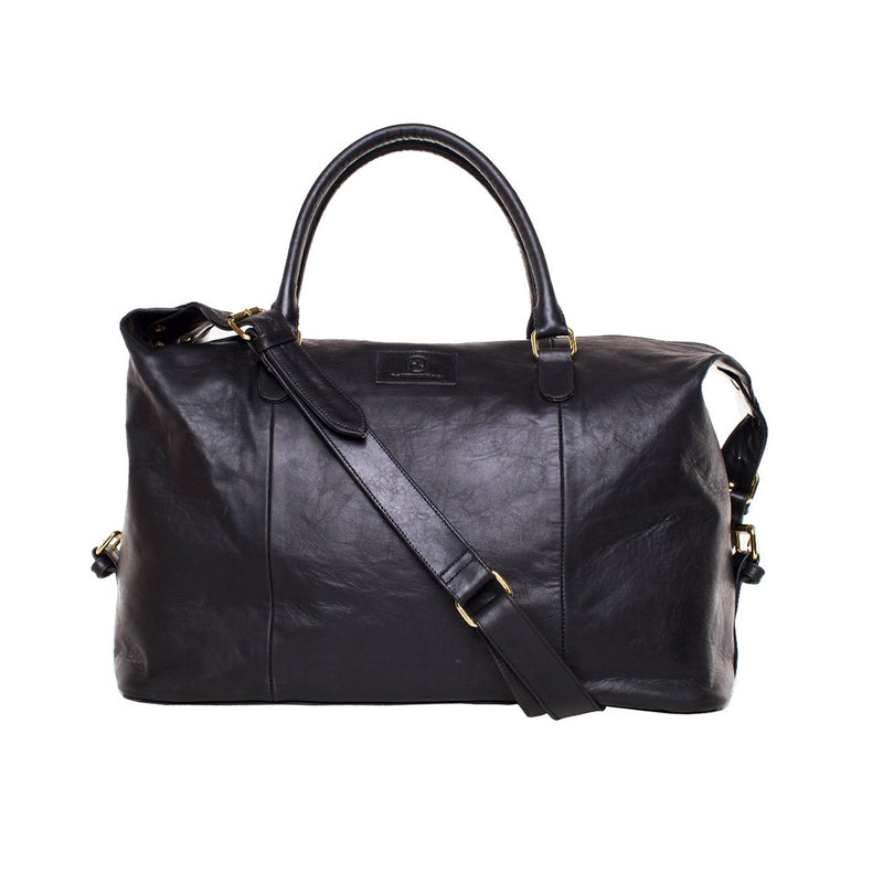 Sherri Weekender - Black leather