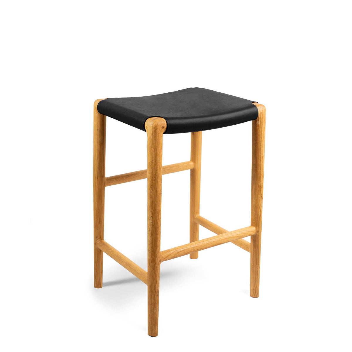 Spensley Stool Oak - Black