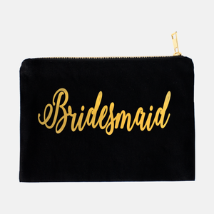 Black Foil Cosmetic Bag - ADR Decor