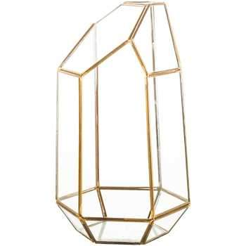Geometric Terrarium with Gold Metal Trim Rental - ADR Decor