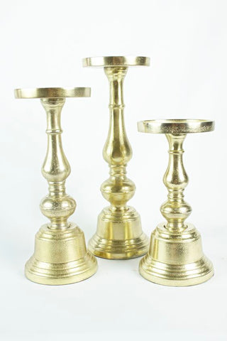 Athena Gold Candle Holders - ADR Decor
