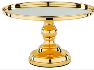 "Metallic Gold Plate 12"" Cake Stand - ADR Decor"