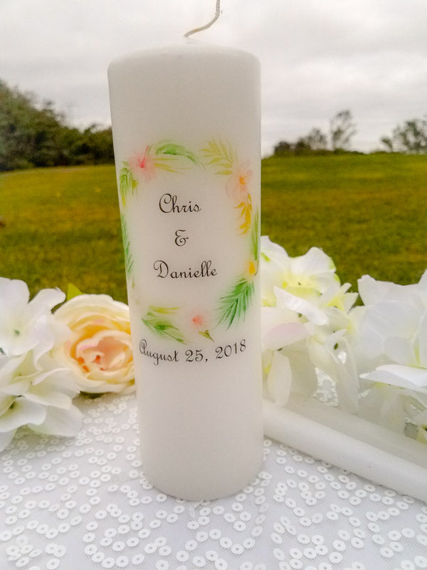 Tropical Personalized Unity Candle - ADR Decor