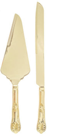 Gold Cake Server Set for Rent - ADR Decor