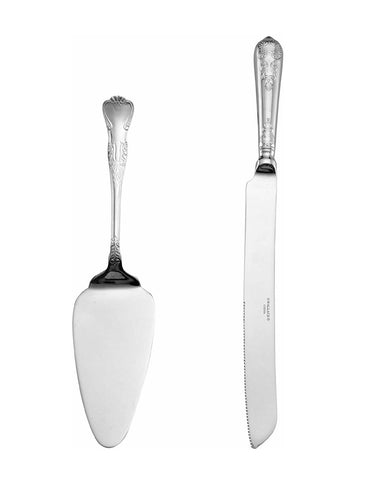 Silver Cake Server Set for Rent - ADR Decor