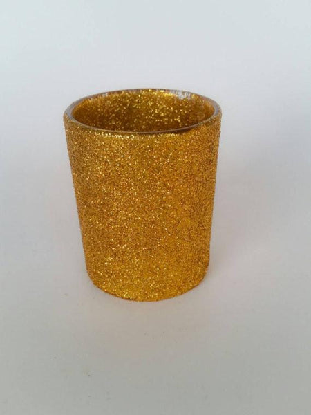 Gold Glitter Votive Candle Holder, Set of 6 - ADR Decor